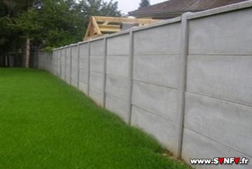 Faire un mur de clôture en plaque béton, MENESLIES Somme 80520